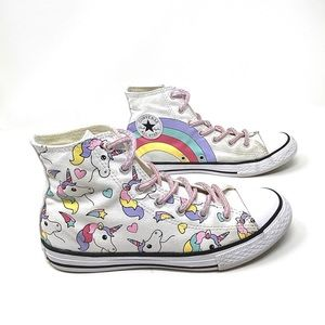 Converse girls unicorn rainbow high tops